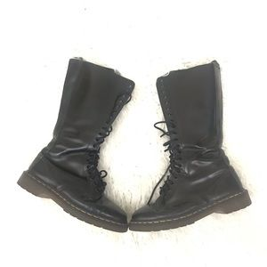Dr DOC MARTENS Leather Knee High 20 EYE Boots